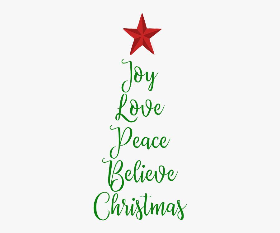 Word Love Peace Joy, Transparent Clipart