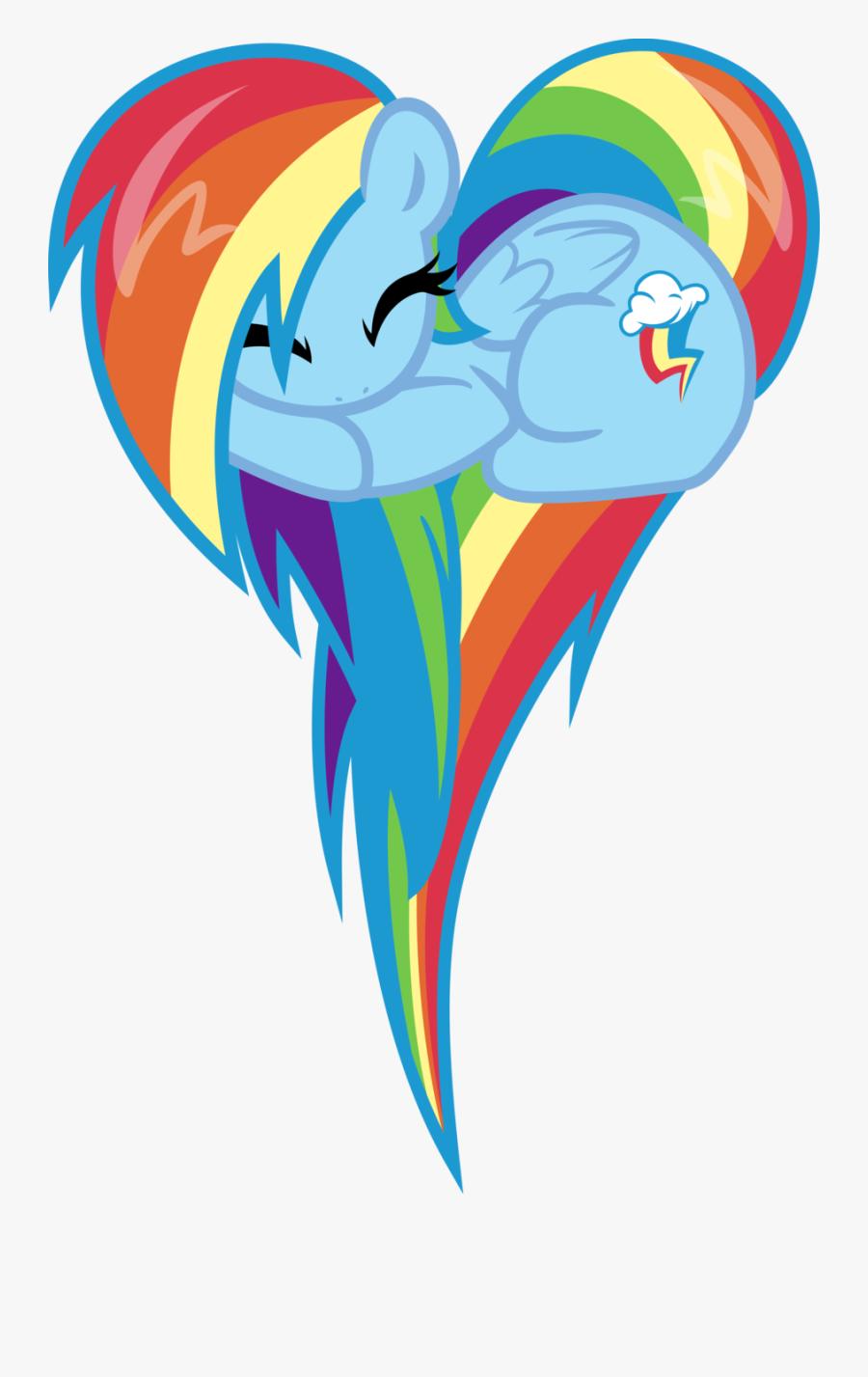 My Little Pony Rainbow Dash Heart, Transparent Clipart