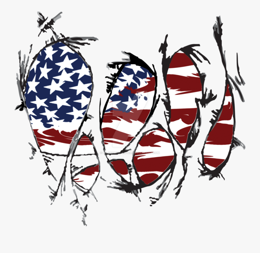 Torn American Flag By - Torn American Flag Design, Transparent Clipart