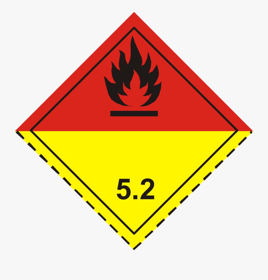 Adr Pictogram - Organic Peroxide 5.2, Transparent Clipart