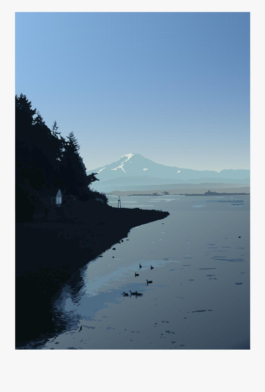 Mount Rainier Art Print - Reflection, Transparent Clipart