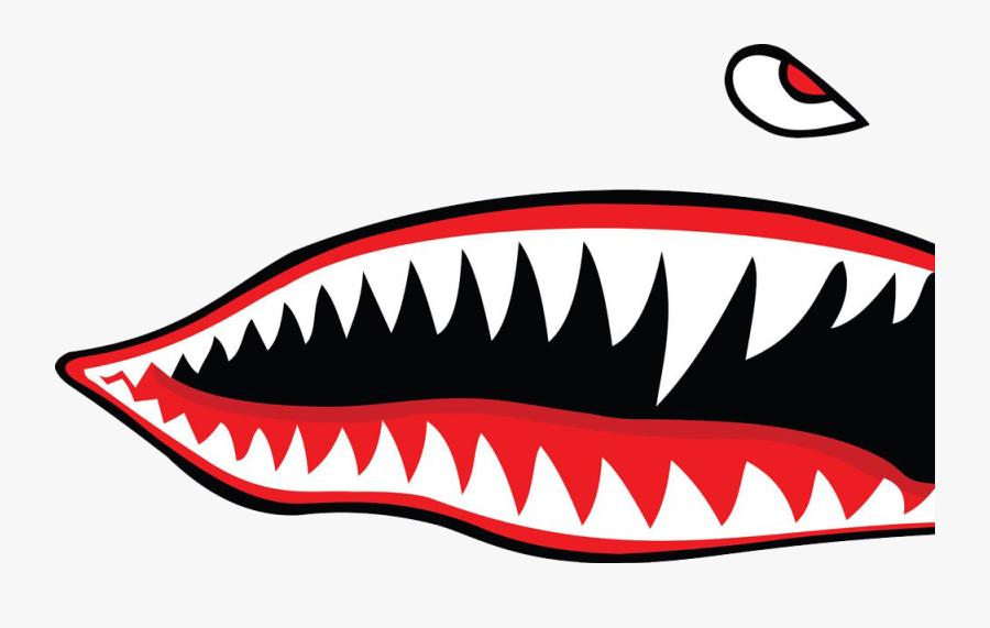 Shark Teeth Png Free Download - Flying Tigers Shark Teeth, Transparent Clipart