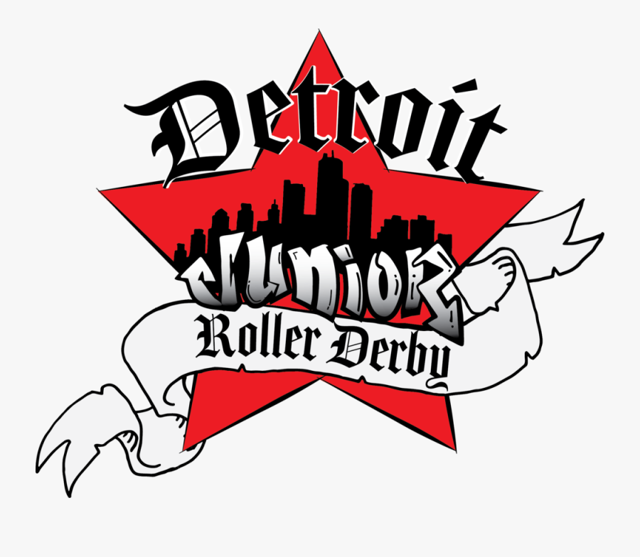 Detroit Junior Roller Derby Logo - Detroit Junior Roller Derby, Transparent Clipart
