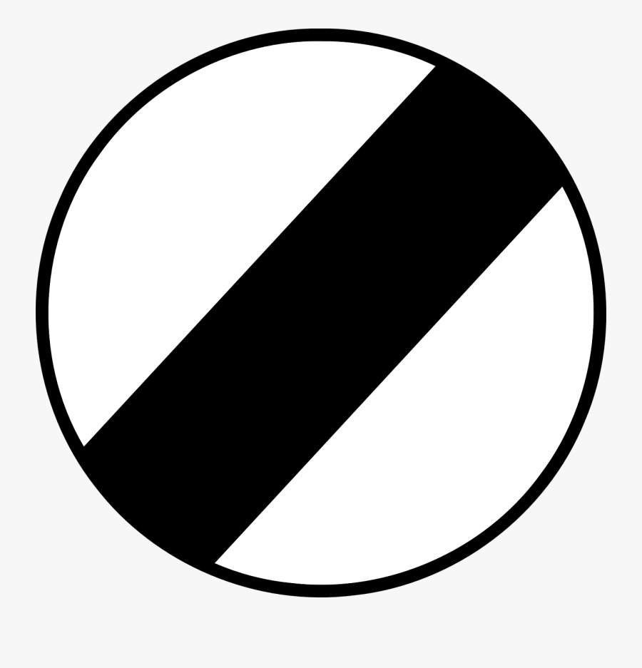 End Of Speed Limit Road Sign Symbol Free Photo - End Of Speed Limit, Transparent Clipart