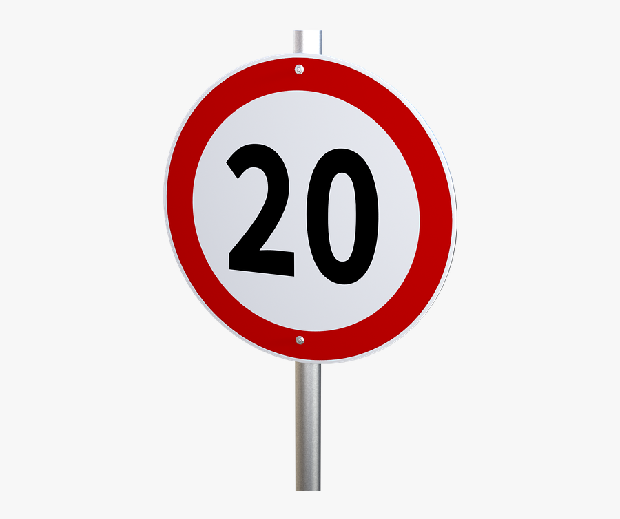 Speed Limit, Transparent Clipart