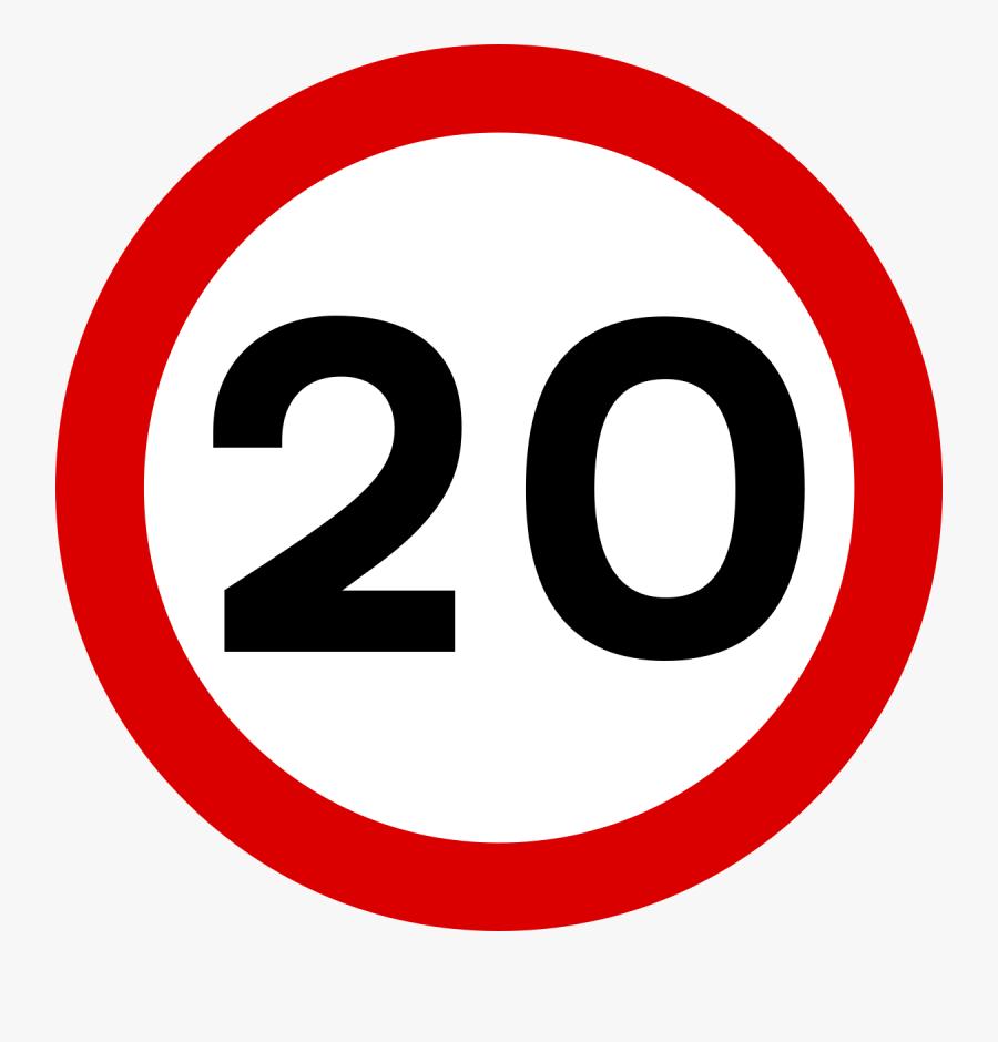 Max Speed 30 Sign, Transparent Clipart
