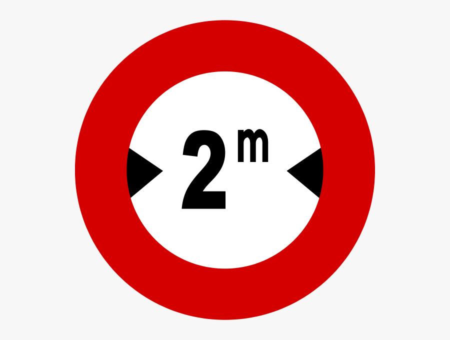Italian Traffic Signs - Bien Bao Han Che Chieu Ngang, Transparent Clipart