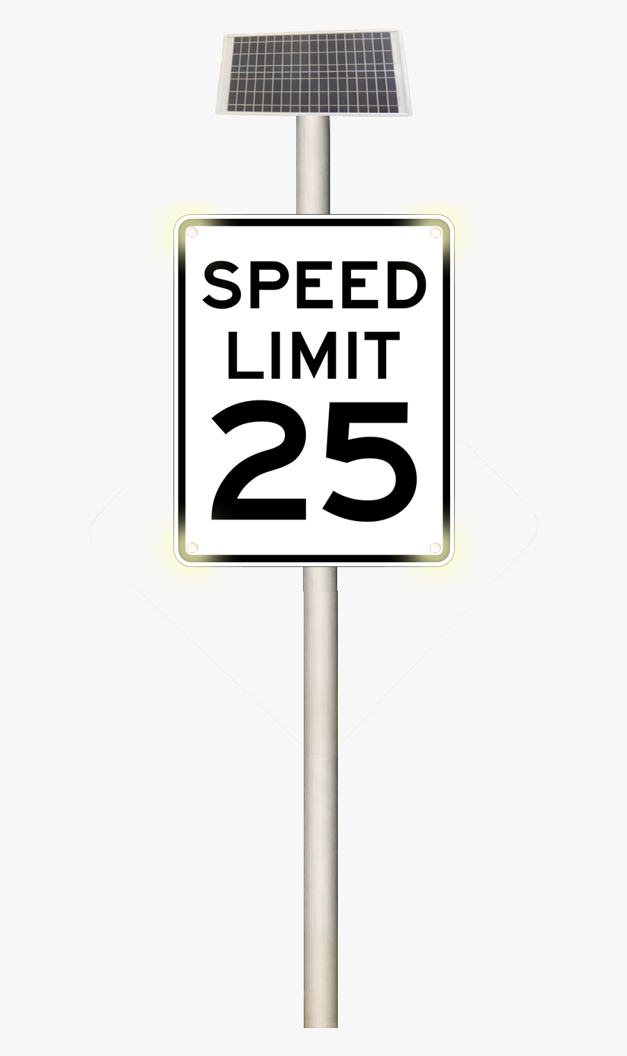 Speed Limit Sign, Transparent Clipart