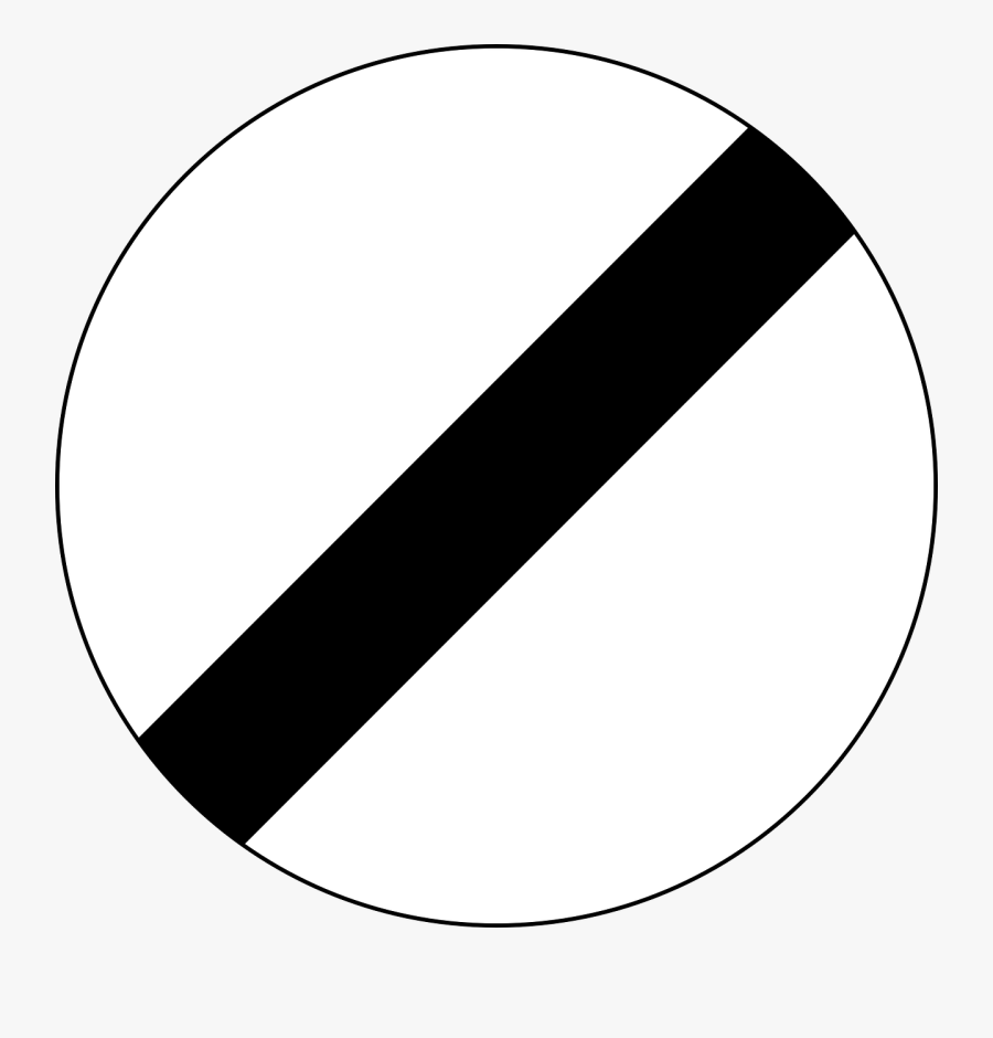 Traffic Sign End Of All Speed And Passing Limits Sign - Nz Road Signs And Meanings, Transparent Clipart