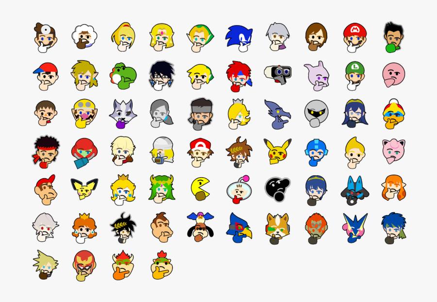 Emoticon Icon Font - Smash Bros Ultimate Discord Emojis, Transparent Clipart