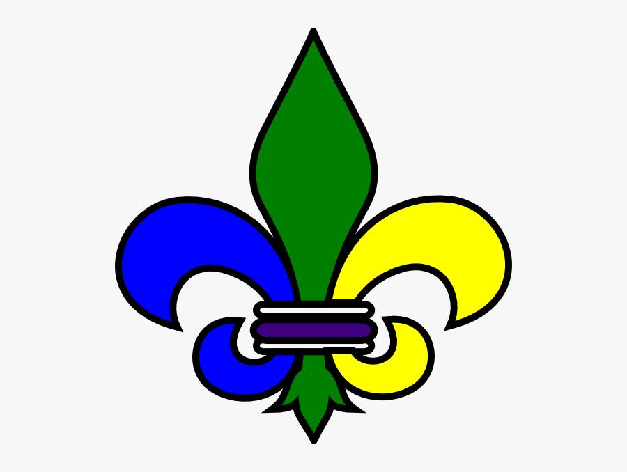 Saints Fleur De Lis Clip Art - Burgundy Fleur De Lis, Transparent Clipart
