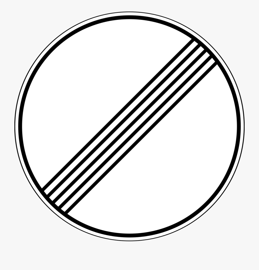 31 Russian Road Sign - Traffic Signs Ends 50, Transparent Clipart