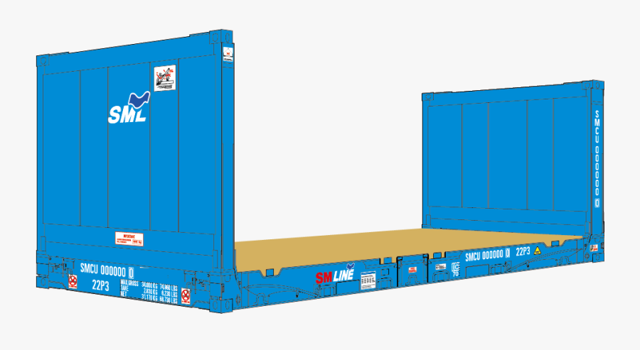Flat Rack Container Png, Transparent Clipart