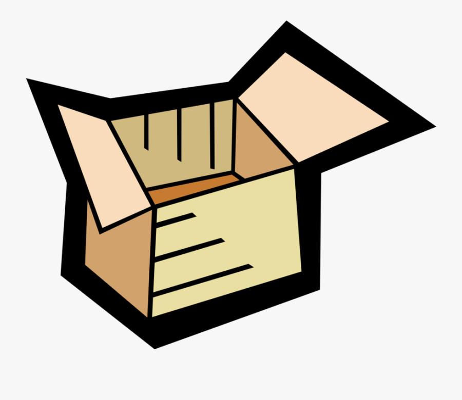 Vector Illustration Of Cardboard Box Carton Shipping, Transparent Clipart