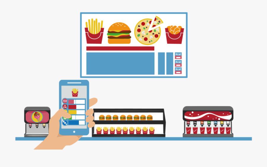 Fda Menu Compliance - Digital Signage Fast Food Order, Transparent Clipart
