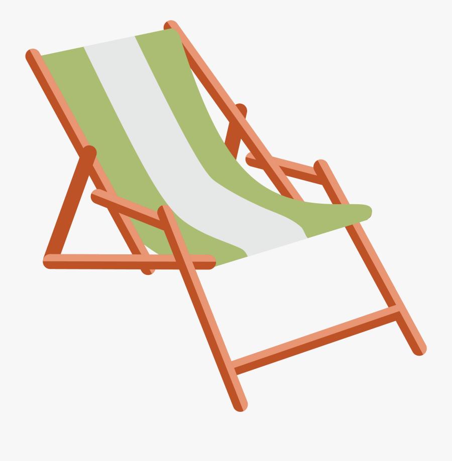 Table Deckchair Folding Chair Sling - Deck Chair Graphic, Transparent Clipart