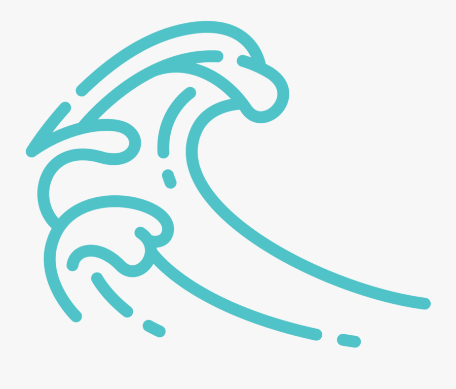 Dannyunderwater Icons Ocean Wave Blue - Ocean Wave Icon Png, Transparent Clipart