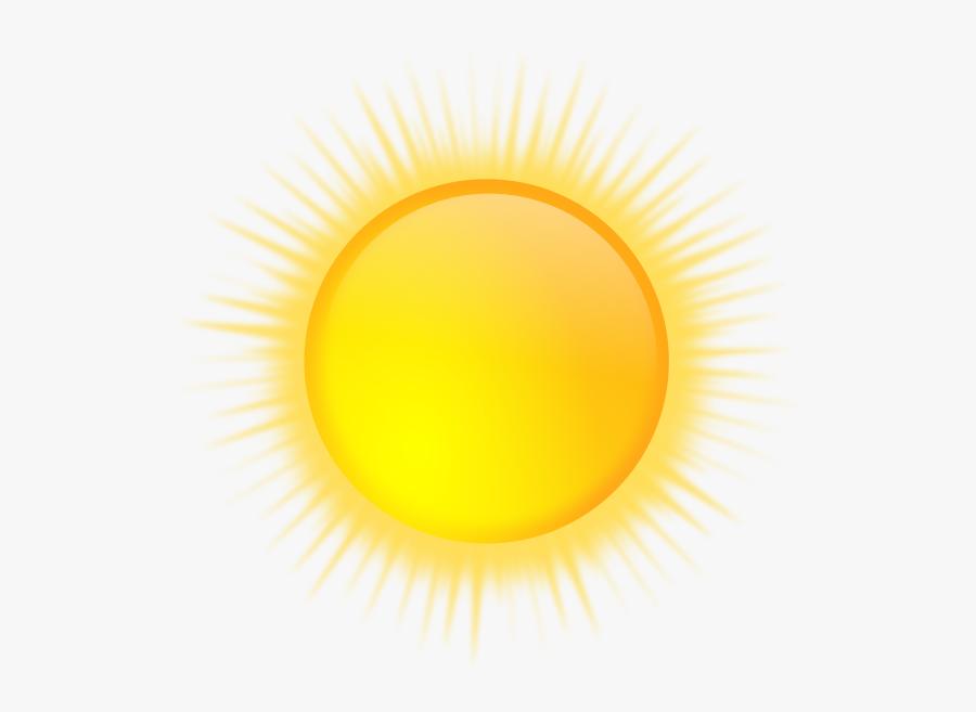 Vector Graphics Of Weather Forecast Color Symbol For - Gambar Matahari Bersinar Png, Transparent Clipart