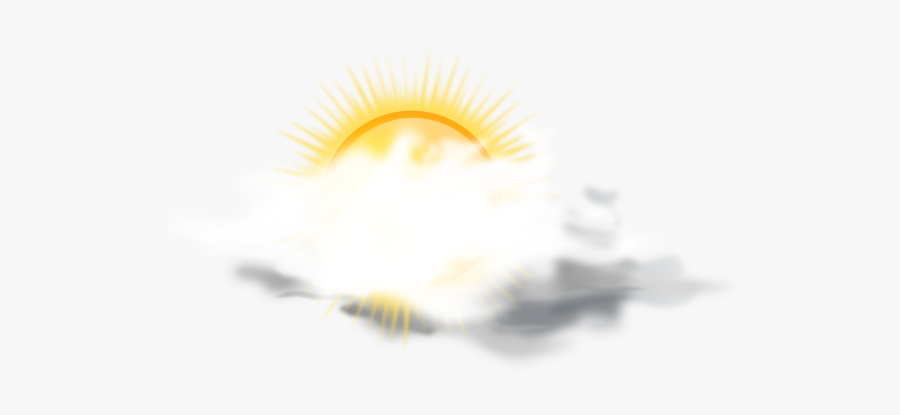 Partly Sunny Weather Icon Svg Clip Arts - Weather Forecast Cloudy .png, Transparent Clipart