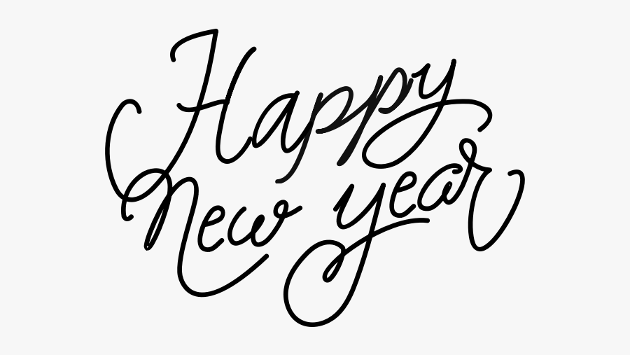 Happy New Year Saying - Transparent Background Happy New Year Clip Art, Transparent Clipart