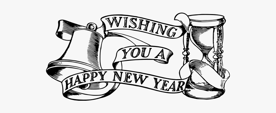 Happy New Year Banner - Happy New Year 2020 Drawing, Transparent Clipart