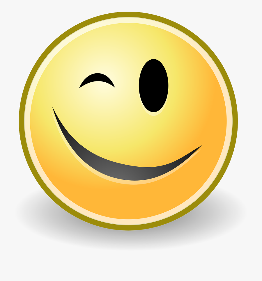 Animated Smiley Face Wink , Free Transparent Clipart