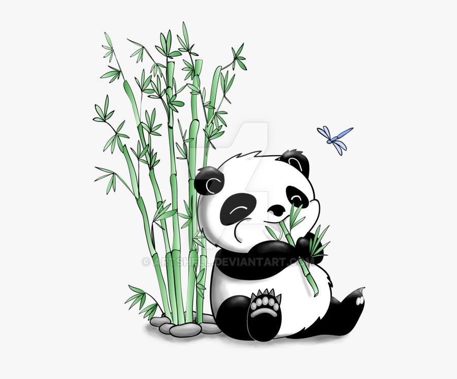 Transparent Animal Eating Clipart - Panda Drawing, Transparent Clipart