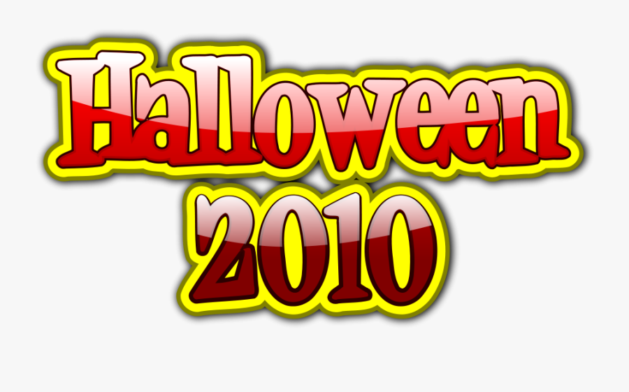 Halloween 2010 3d Svg Clip Arts - Graphics, Transparent Clipart