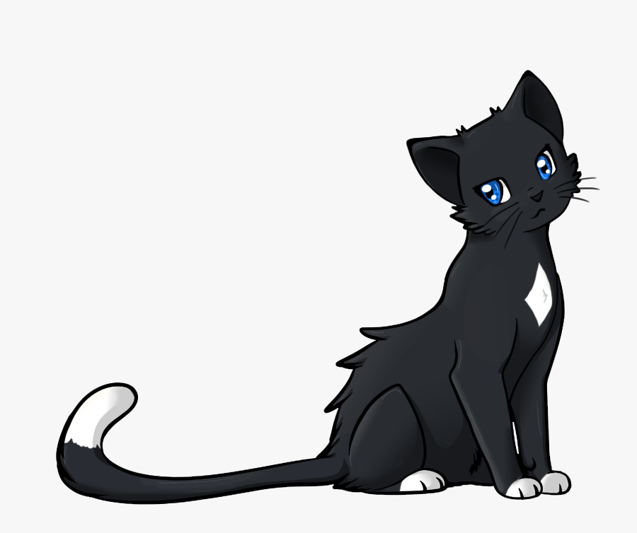 Warrior Cats Clipart Clip Art Royalty Free Animated - Anime Black And White Cat, Transparent Clipart