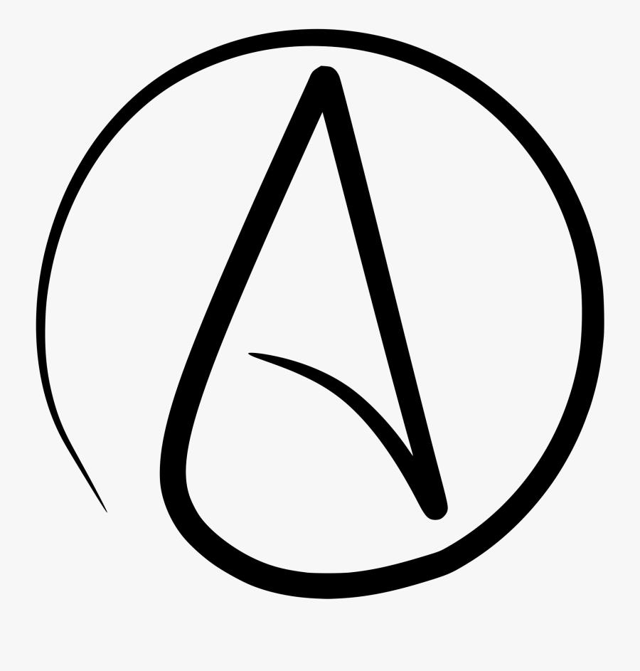 Atheist Circle A - Atheism Symbol, Transparent Clipart
