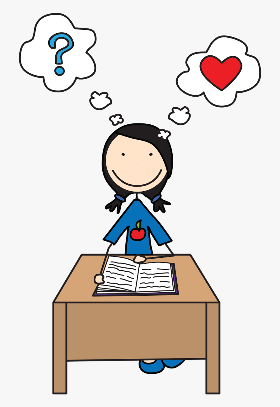 Free Writing Clipart Image - Student Thinking Clipart, Transparent Clipart
