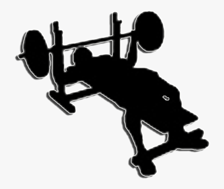 Bench Clipart Weight Lifting - Bench Press Clipart, Transparent Clipart
