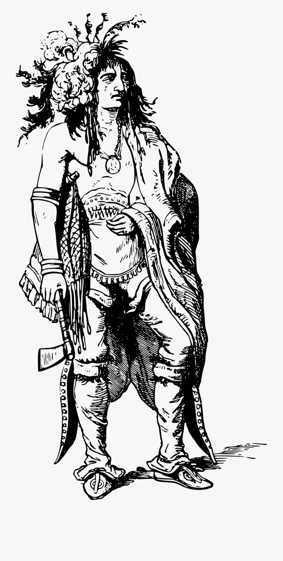 Indians Clipart Iroquois Person - Iroquois Native American Drawing, Transparent Clipart