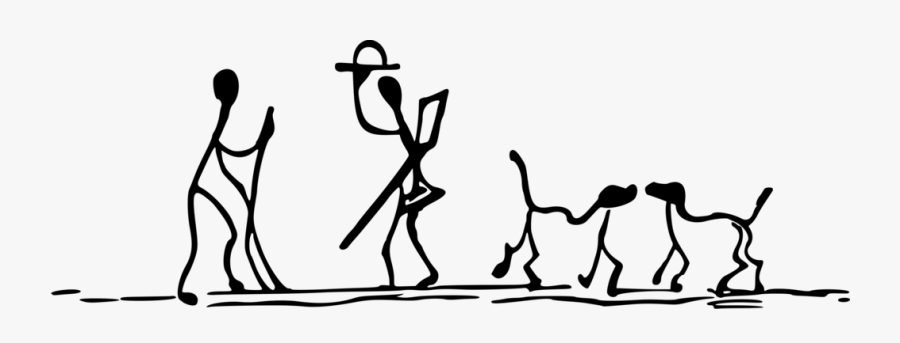 Stick People Walking Drawing Png, Transparent Clipart