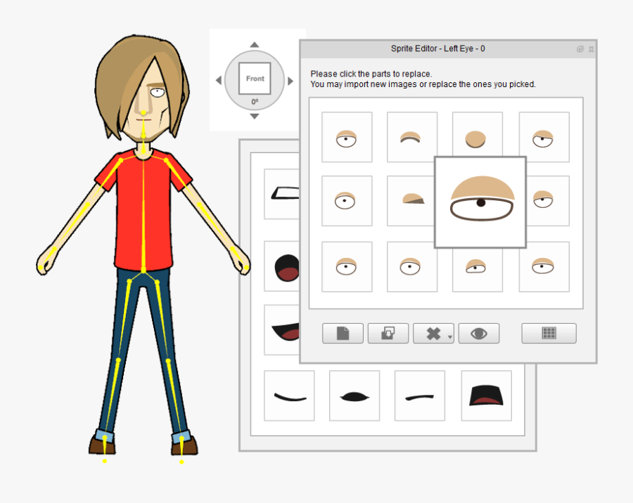 Features D Animation Software - 2d Character Editor, Transparent Clipart