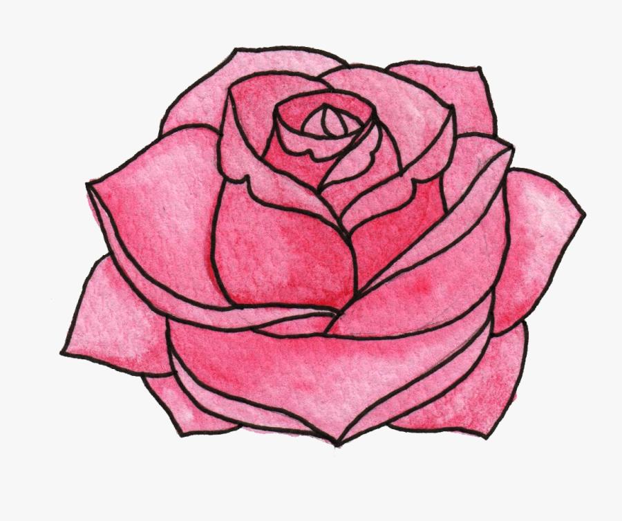 Garden Roses Floral Design Watercolor Painting Clip - Flower Animation Png, Transparent Clipart