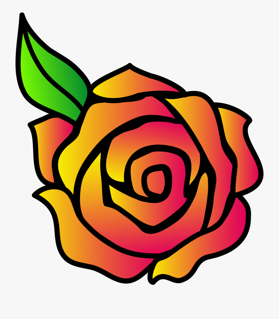 Large Size Of How To Draw A Cartoon Rose Video An Animated - Draw A Cartoon Rose, Transparent Clipart