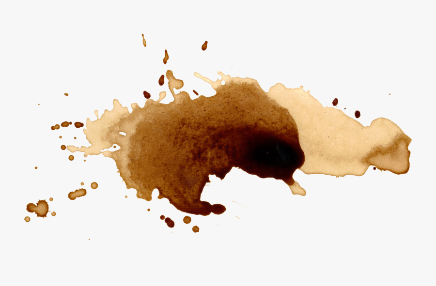 10 Coffee Stains Splatter - Watercolor Coffee Stain Png, Transparent Clipart