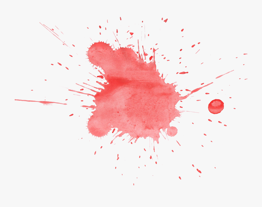 Red Watercolor Splatter - Red Watercolor Splash Transparent, Transparent Clipart