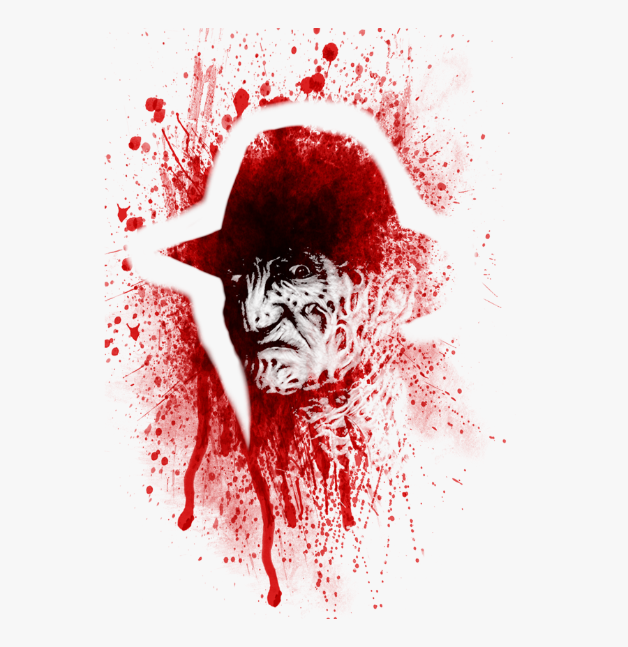 #freddy #freddykrueger #blood #bloody #horror #scary, Transparent Clipart