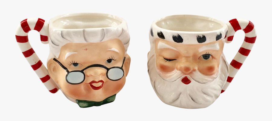 Mr And Mrs Claus Mugs, Transparent Clipart