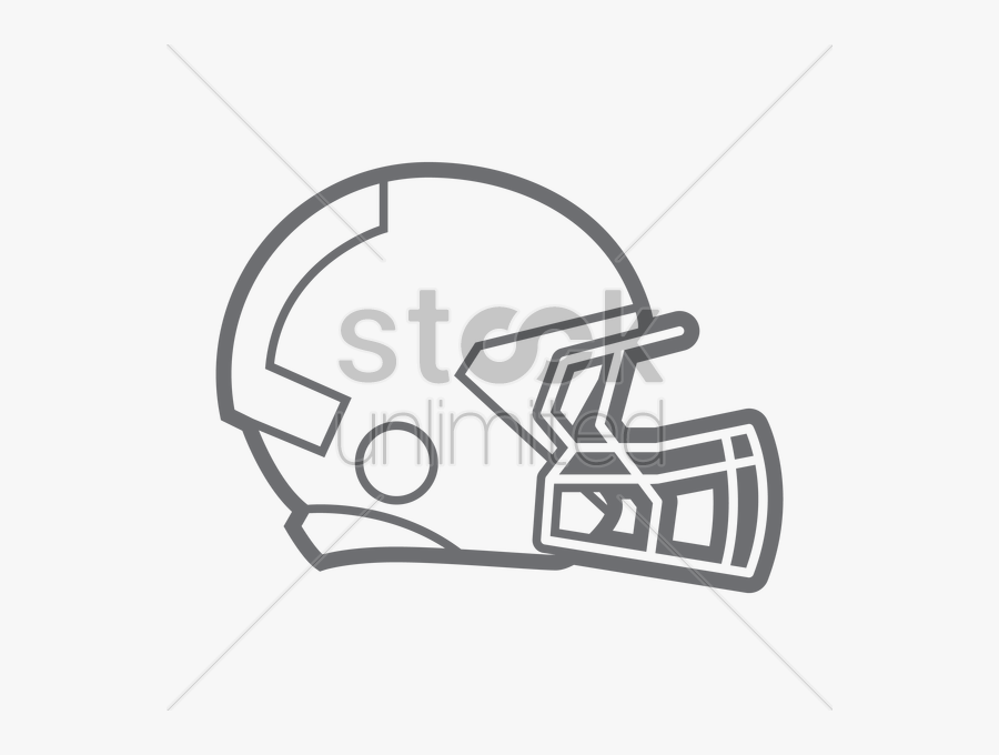 Abstract American Football Clipart Clip Royalty Free - Speedflex Football Helmet Drawing, Transparent Clipart