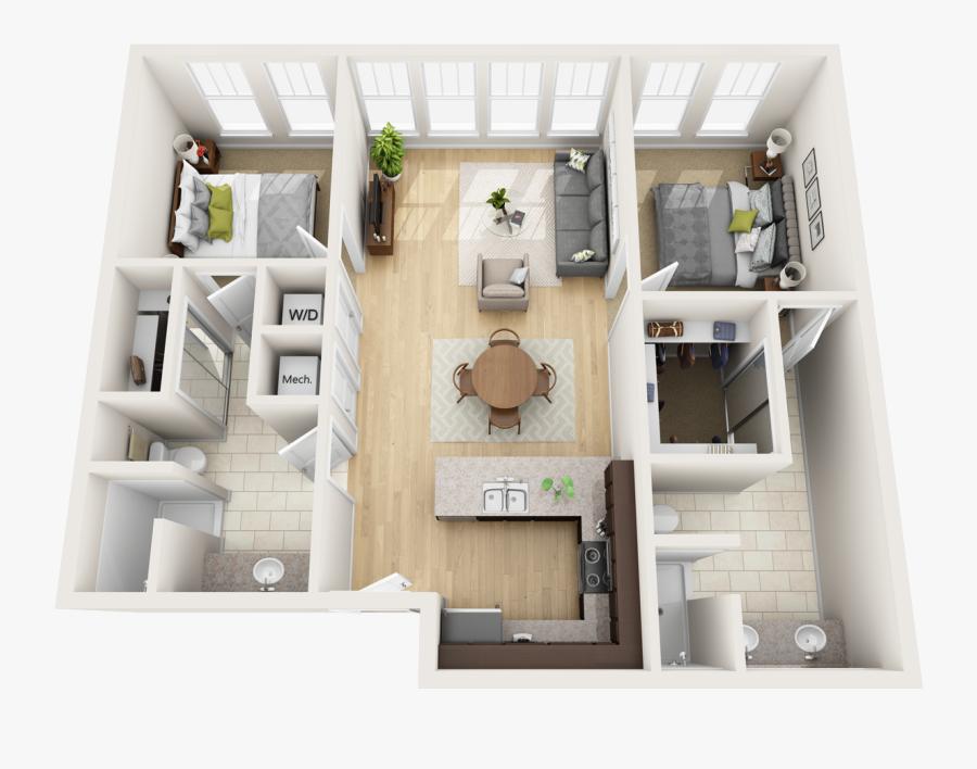 Planning Clipart Building Plan - 3d Condo Floor Plans, Transparent Clipart