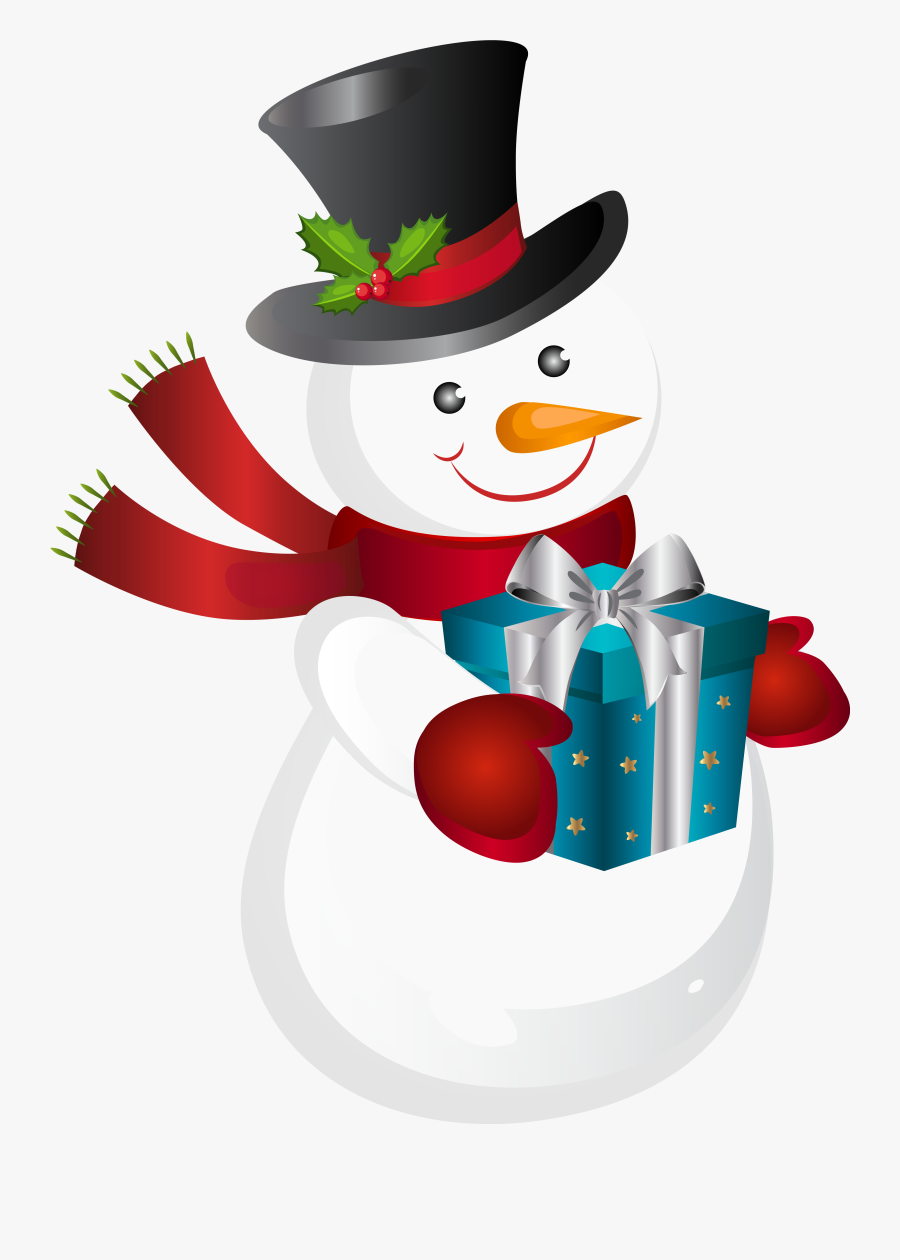 Tubes Noel Bonhommes De - Transparent Snow Man Png, Transparent Clipart