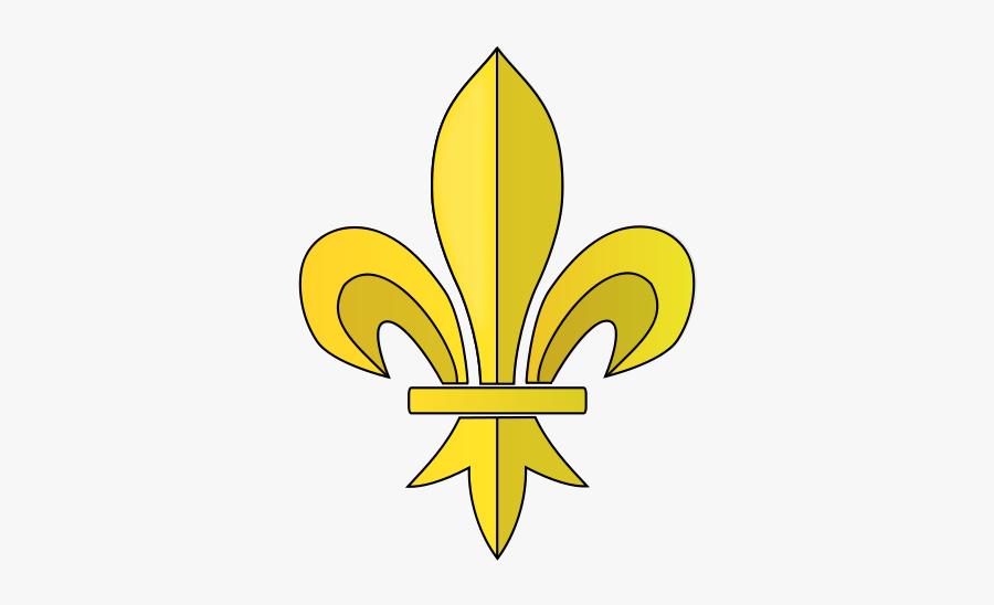 Fleur De Lys Clipart, Vector Clip Art Online, Royalty - Fleur De Lis Transparent Background, Transparent Clipart