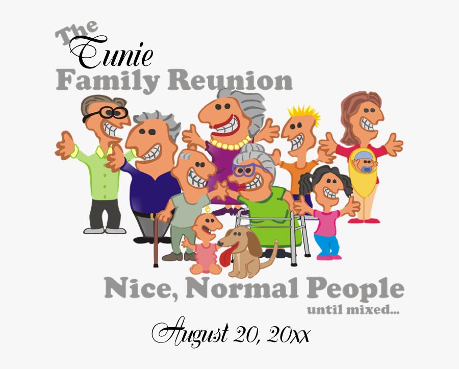 Personalized Family Reunion Funny Cartoon Postcard - Funny Family Reunion Clip Art, Transparent Clipart