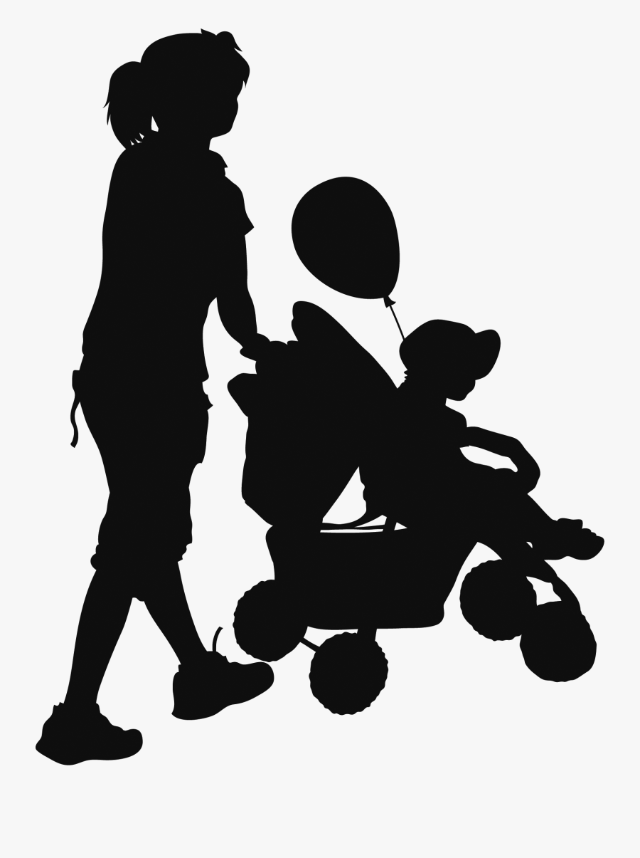 People Silhouettes 15 Silhouettes, Projects To Try, - Family People Png Silhouette, Transparent Clipart