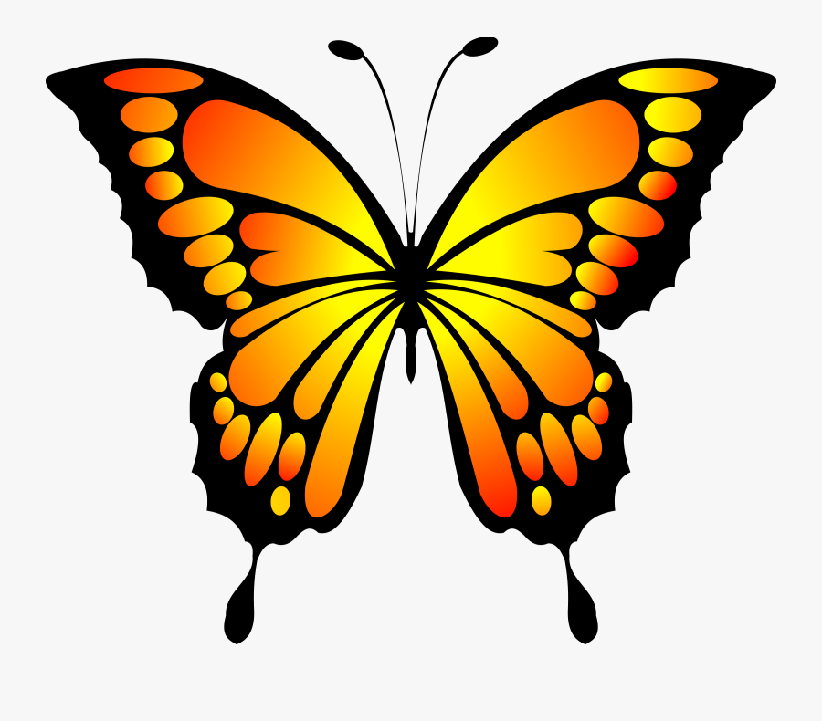 Red Big Image Png - Yellow Butterfly, Transparent Clipart