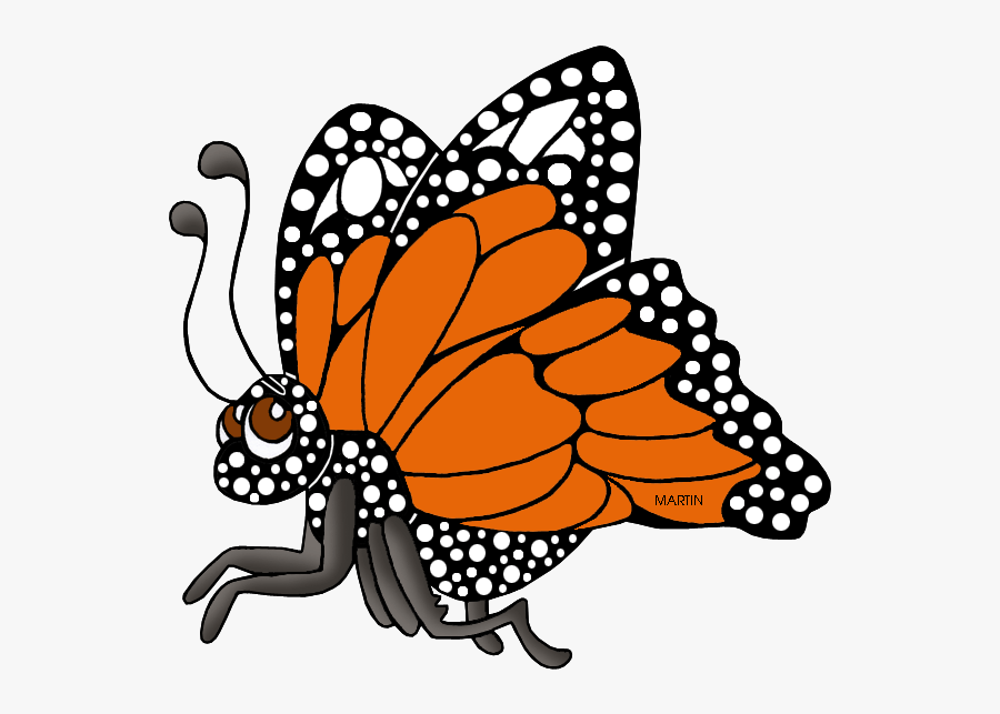 West Virginia State Butterfly - Monarch Butterfly State Insect Of Texas, Transparent Clipart