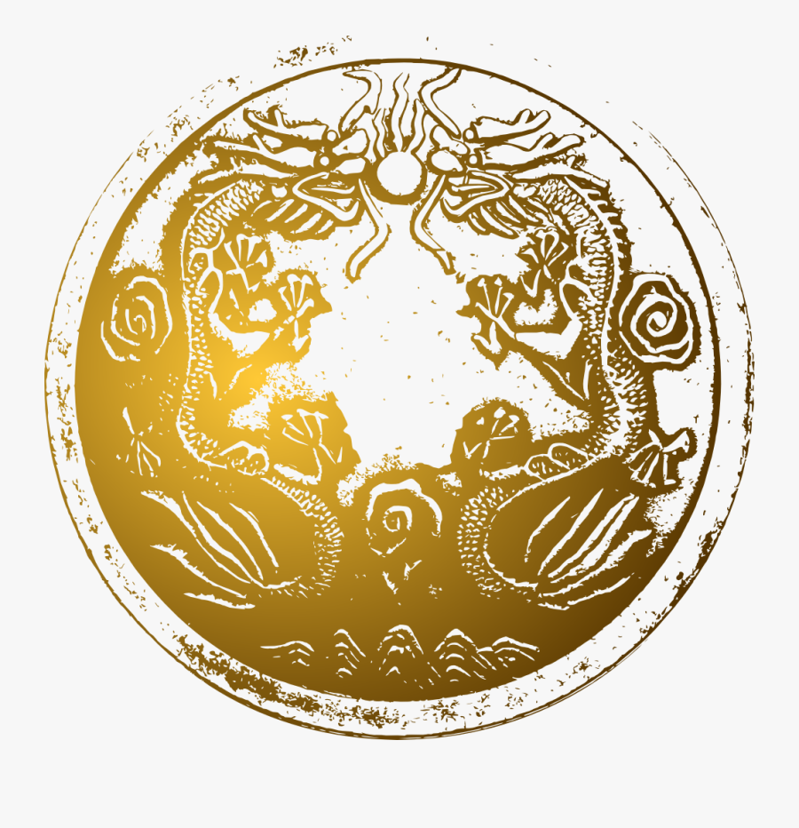 Ancient Chinese Dragons - Chinese Dragon Circle Png, Transparent Clipart